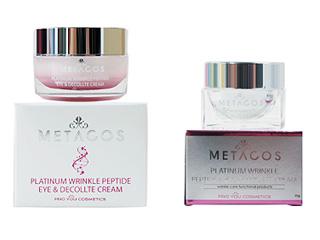 Крем спептидами дляглаз изоны декольте против морщин Metacos Platinum